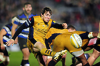 Rhodri Williams of Bristol Rugby box-kicks the ball. Aviva Premiership match, between Bath Rugby and Bristol Rugby on November 18, 2016 at the Recreation Ground in Bath, England. Photo by: Patrick Khachfe / Onside Images