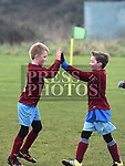 Drogheda Boys U-9 players Ted O'Connor and Vincent Cardosa celebrate a goal against Donacarney Bears. Photo:Colin Bell/pressphotos.ie