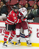 Mike Prapavessis (RPI - 19), Michael Floodstrand (Harvard - 44) - The Harvard University Crimson defeated the visiting Rensselaer Polytechnic Institute Engineers 5-2 in game 1 of their ECAC quarterfinal series on Friday, March 11, 2016, at Bright-Landry Hockey Center in Boston, Massachusetts.
