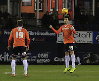 Alan Sheehan of Luton Town heads the ball clear during the Sky Bet League 2 match between Luton Town and Yeovil Town at Kenilworth Road, Luton, England on 2 February 2016. Photo by Liam Smith.