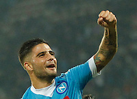 Napoli's Lorenzo Insigne  during the Europa  League Group D soccer match between SSC Napoli and Midtjylland at the San Paolo  Stadium in NaplesNovember 05, 2015