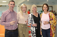 NWA Democrat-Gazette/CARIN SCHOPPMEYER Richy and Joanna McCusker (from left), Andi Stephens and Allison Byford gather at Top Chef NWA.