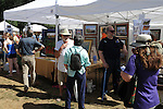 Art show at Art in the Park festival in Keene, New Hampshire USA