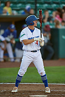 Chris Roller (41) of the Ogden Raptors bats against the Grand Junction Rockies at Lindquist Field on June 25, 2018 in Ogden, Utah. The Raptors defeated the Rockies 5-3. (Stephen Smith/Four Seam Images)