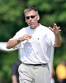 Ashburn, VA - August 4, 2009 -- Head Coach Jim Zorn instructs his quarterbacks during the 2009 Washington Redskins training camp at Redskins Park in Ashburn Virginia on Monday, August 4, 2009..Credit: Ron Sachs / CNP