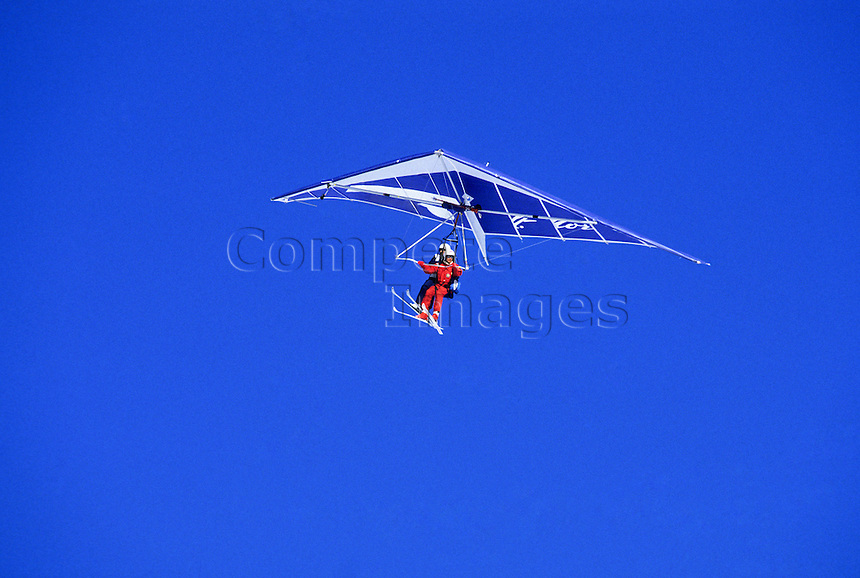 Hang glider on skis