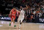 Eurocup 2016/2017.<br /> Valencia Basket (77)vs(81) Hapoel Jerusalen.<br /> Fuente de San Luis Pavillion (aka La Fonteta).<br /> October 19, 2016.