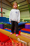 Sadie Lynch on the beam at the Tralee Gymnastics Club in the Clash Business Park on Monday