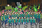 The Kerry ladies footballers got a huge welcome to their homecoming in Killorglin on Monday evening..