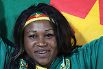 19 JUN 2010: A Cameroon fan, preagame. The Denmark National Team defeated the Cameroon National Team 2-1 at Loftus Versfeld Stadium in Tshwane/Pretoria, South Africa in a 2010 FIFA World Cup Group E match.
