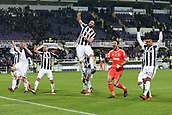 9th February 2018, Stadio Artemio Franchi, Florence, Italy; Serie A football, ACF Fiorentina versus Juventus; players of Juventus celebrate in front of their supporters after defeating Fiorentina 2-0