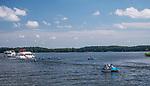 Statki wycieczkowe na jeziorze Necko w Augustowie, Polska<br /> Cruise ships on Necko Lake in August&oacute;w, Poland