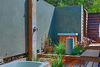 Outdoor, Shower, Bath, Wood Flooring, Bathroom, Open Air, Malibu, California