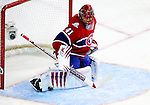 6 February 2010: Montreal Canadiens' goaltender Jaroslav Halak makes a second period save against the Pittsburgh Penguins at the Bell Centre in Montreal, Quebec, Canada. The Canadiens defeated the Penguins 5-3. Mandatory Credit: Ed Wolfstein Photo