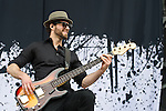 Josh Smith of Halestorm performs during the 2013 Rock On The Range festival at Columbus Crew Stadium in Columbus, Ohio.