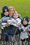 CHEERS: Earnan Ferris, Noreen Ferris, Tiernan OSullivan and Odhran Ferris cheer on Ardfert on Sunday..