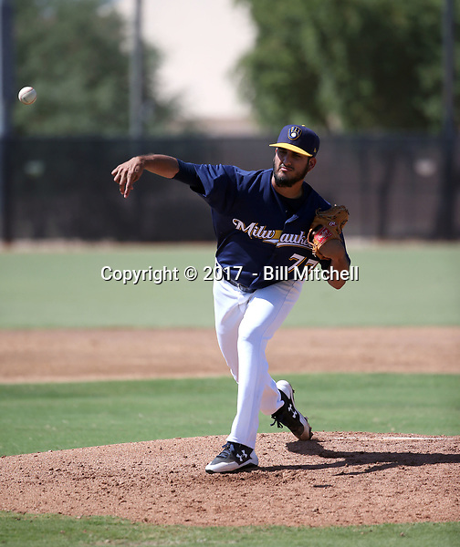 Nelson Hernandez - 2017 AIL Brewers (Bill Mitchell)