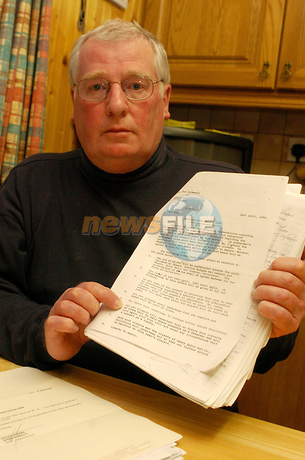 Eddie Huston Holding the Documents stateing that there will be no Sunday Concerts at Slane Castle.Photo AFP/NEWSFILE/FRAN CAFFREY..(Photo credit should read FRAN CAFFREY/NEWSFILE/AFP)...This Picture has been sent you under the condtions enclosed by:.Newsfile Ltd..the Studio,.Millmount Abbey,.Drogheda,.Co Meath..Ireland..Tel: +353(0)41-9871240.Fax: +353(0)41-9871260.GSM: +353(0)86-2500958.email: pictures@newsfile.ie.www.newsfile.ie.FTP: 193.120.102.198..This picture is from Fran Caffrey@newsfile.ie
