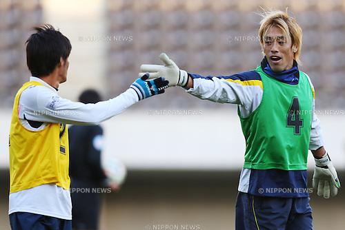 Tatsuya Enomoto,<br /> 2014 JPFA Tryout at Fukuda Denshi Arena in Chiba, Japan on December 3rd, 2014.<br /> (Photo by Shingo Ito/AFLO SPORT)