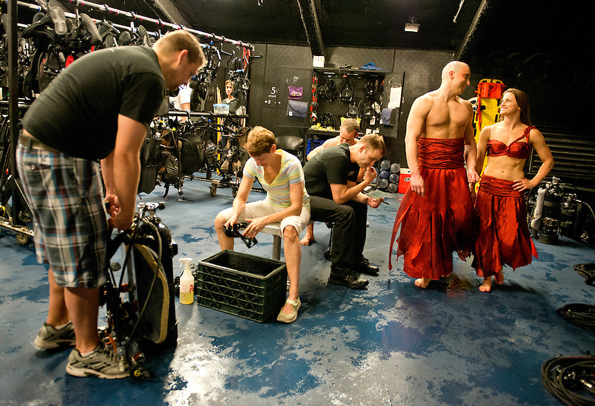 "Backstage at ""La Reve"" The Dream Show at Wynn, Las Vegas, Nevada, USA"