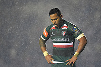 Manu Tuilagi of Leicester Tigers looks on during a break in play. European Rugby Champions Cup match, between Leicester Tigers and Munster Rugby on December 17, 2017 at Welford Road in Leicester, England. Photo by: Patrick Khachfe / JMP