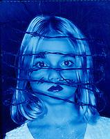 Frightened, disturbed girl.