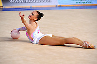 Elena Meirzon of Israel performs with ball at 2010 Holon Grand Prix at Holon, Israel on September 3, 2010.  (Photo by Tom Theobald).