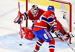 10 February 2010: Montreal Canadiens' goaltender Carey Price makes a first period save against the Washington Capitals at the Bell Centre in Montreal, Quebec, Canada. The Canadiens defeated the Capitals 6-5 in sudden death overtime, ending Washington's team-record winning streak at 14 games. Mandatory Credit: Ed Wolfstein Photo