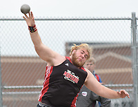 RICK PECK/SPECIAL TO MCDONALD COUNTY PRESS Elliott Wolfe was third in the shot put and second in the discus at the Big 8 Conference Track and Field Championships held May 2 at Mount Vernon High School.