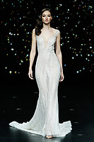 Pronovias fashion show during the Valmont Barcelona Bridal Fashion Week at the Italian Pavilion Fira Montjuic in Barcelona on April 26, 2019.<br /> Bruna Tenorio