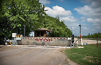 A gate stops visitors from entering President George W. Bush's ranch outside Crawford, Texas, US, Wednesday, April 14, 2010. The town was nicknamed the Western White House by President George W. Bush because of frequent visits and his ranch...PHOTO/ MATT NAGER