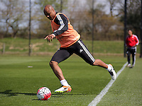 Andre Ayew during the Swansea City FC training at Fairwood, Swansea, Wales, UK on Wednesday 04 May 2016
