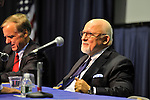Governor Howard B. Dean III (left), Edward J. Rollins (right) are panelists at &quot;Change in the White House? Comparing the George W. Bush and Barack Obama Presidencies&quot; on Thursday, April 19, 2012, at Hofstra University, Hempstead, New York, USA. Hofstra's event was part of <br />