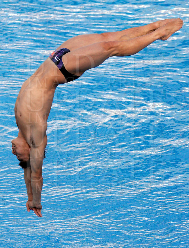 China's Qin Kai competes in the men's 1m springboard diving finals at the Swimming World Championships in Rome, 17 July 2009..UPDATE IMAGES PRESS/Riccardo De Luca