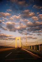 A unique capture of clouds above Newport Bridge