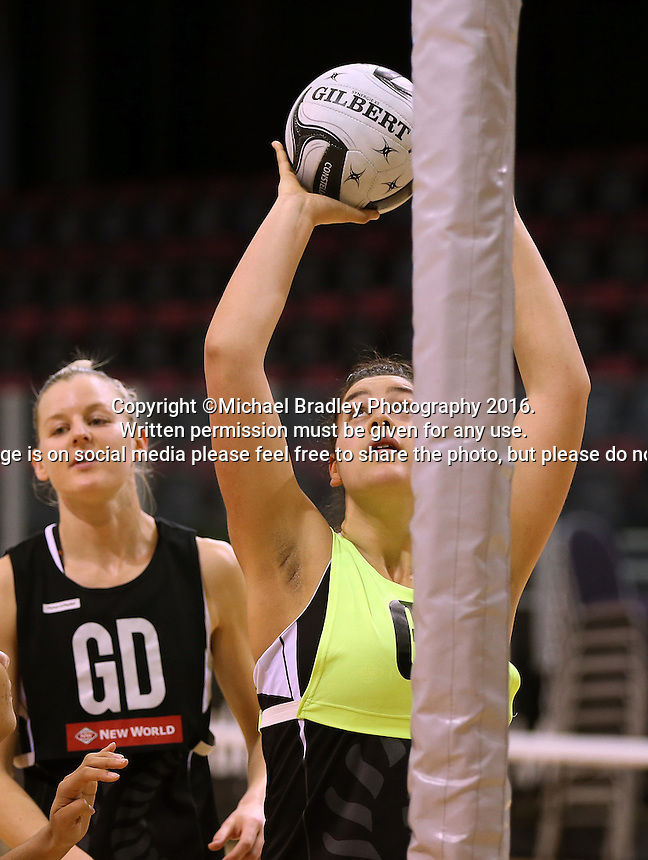 19.10.2016 Silver Ferns Maia Wilson in action during the Silver Ferns Training in Invercargill. Mandatory Photo Credit ©Michael Bradley.
