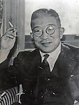Undated - Ichiro Hatoyama was a Japanese politician and the 52nd, 53rd and 54th Prime Minister of Japan.  (Photo by Kingendai Photo Library/AFLO)