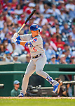 29 June 2017: Chicago Cubs outfielder Albert Almora Jr. in action against the Washington Nationals at Nationals Park in Washington, DC. The Cubs rallied to defeat the Nationals 5-4 and split their 4-game series. Mandatory Credit: Ed Wolfstein Photo *** RAW (NEF) Image File Available ***