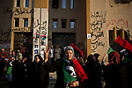 © Remi OCHLIK/IP3 -   Benghazi March 22, 2011 - Along the sea, in front of the court house women demonstrate against Gadhafi