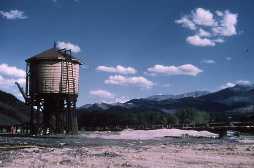 A D&amp;RGW water tank.<br /> D&amp;RGW