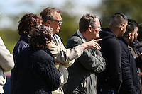 Former Premier League referee, Graham Poll (3rd left), watches the Bedfordshire County Football League match between Ampthill Town U18 and Renhold United Reserves at Shefford Sports Club, Shefford, England on 30 April 2016. Photo by David HornPRiME Media Images.