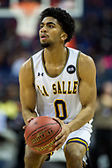 Washington, DC - MAR 7, 2018: La Salle Explorers guard Pookie Powell (0) in action during game between La Salle and UMass during first round action of the Atlantic 10 Basketball Tournament at the Capital One Arena in Washington, DC. (Photo by Phil Peters/Media Images International)