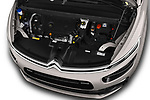 Car stock 2018 Citroen C4 Spacetourer Business + 5 Door MPV engine high angle detail view