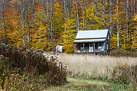 Remote rural house, Topsham, Vermont, USA.