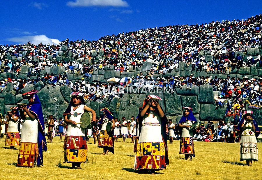 Festa do sol, Inti Raimi na cidade de Cusco. Perú. Foto de Juca Martins<br /> Data: 06-1994