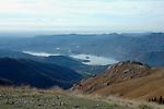 Il lago d'Orta visto dal Mottarone.