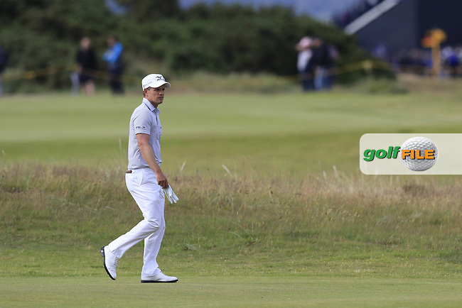 Luke Donald (ENG) on the 14th hole during Sunday's Round 3 of the 144th Open Championship, St Andrews Old Course, St Andrews, Fife, Scotland. 19/07/2015.<br /> Picture Eoin Clarke, www.golffile.ie