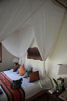 Mozzie net around our bed. Alam Sari, Keliki, Bali