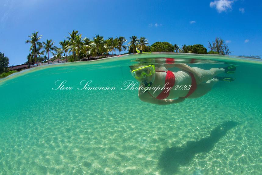 Snorkeler<br /> Buccaneer Resort<br /> St. Croix<br /> US Virgin Islands