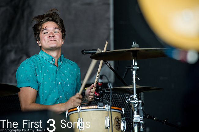 Steven Kopacz of Go Radio performs during the Vans Warped Tour at the Klipsch Music Center in Indianapolis, IN.